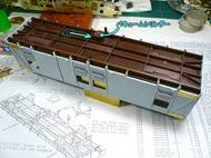 床下梁とシリンダーの位置変更