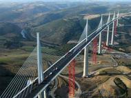 建設中のミヨー橋