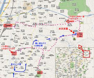 曼殊院付近の地図