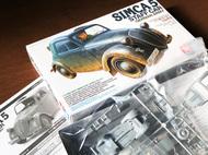 SIMCA 5 model car