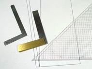 スコヤと直角定規
