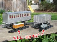 アニーとクララベルと貨車の試作写真