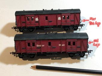 2種類のSodor Mail Van